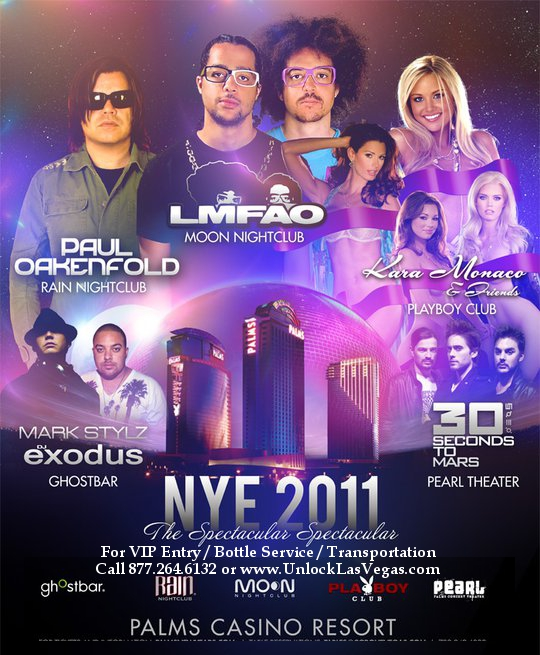 Palms venues New Years Eve 2011